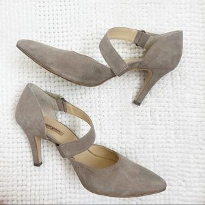 Paul Green Taupe Pointy Toe D'orsay Shoes Size 7
